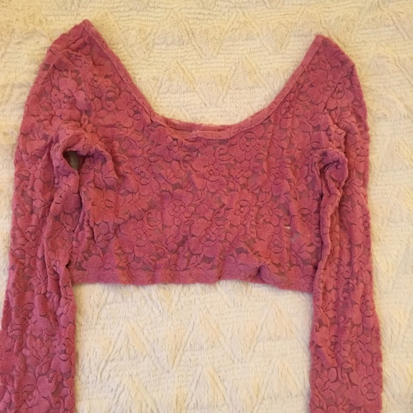 Mossimo Supply Co. Tops - Long sleeve lace crop top